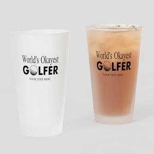 Worlds Okayest Golfer | Funny Golf Drinking Glass