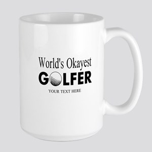 Worlds Okayest Golfer | Funny Golf Mugs For Dad
