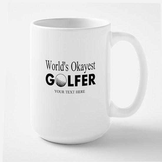 Worlds Okayest Golfer | Funny Golf Mugs For Dad