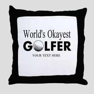Worlds Okayest Golfer | Funny Golf Throw Pillow