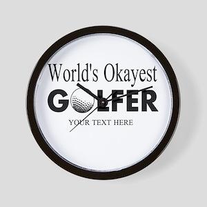 Worlds Okayest Golfer | Funny Golf Wall Clock