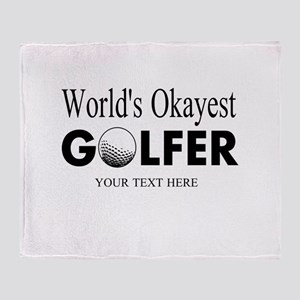 Worlds Okayest Golfer | Funny Golf Throw Blanket