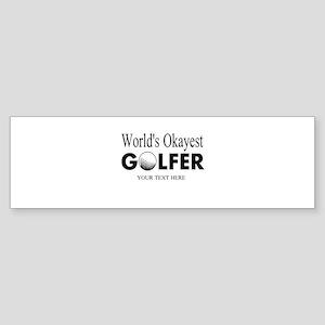 Worlds Okayest Golfer   Funny Golf Bumper Sticker