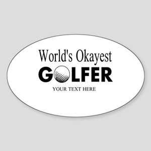 Worlds Okayest Golfer | Funny Golf Sticker