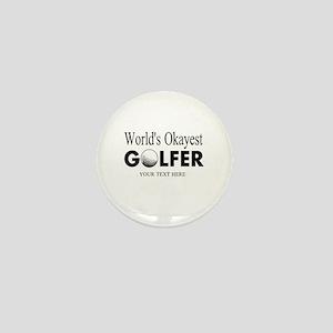 Worlds Okayest Golfer | Funny Golf Mini Button