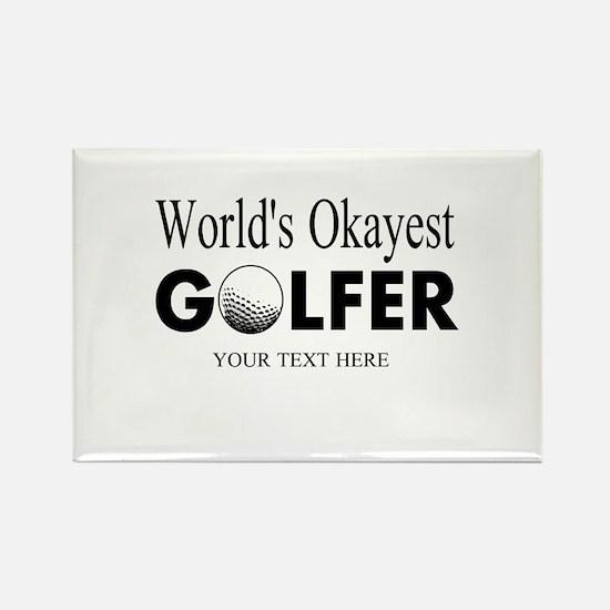 Worlds Okayest Golfer | Funny Golf Magnets