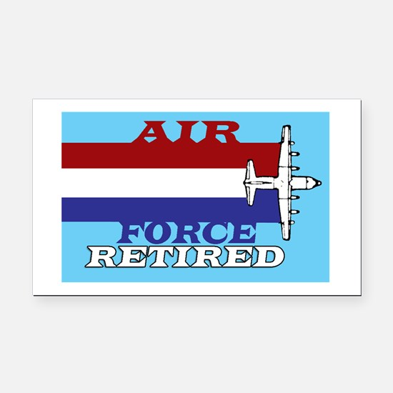 Air Force-Retired-6.png Rectangle Car Magnet