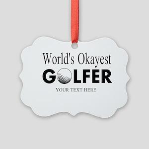 Worlds Okayest Golfer | Funny Golf Ornament