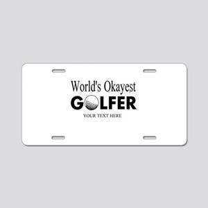 Worlds Okayest Golfer | Funny Golf Aluminum Licens