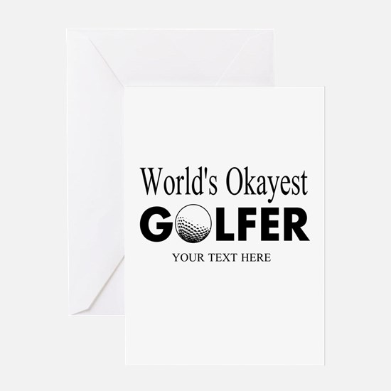 Worlds Okayest Golfer | Funny Golf Greeting Cards