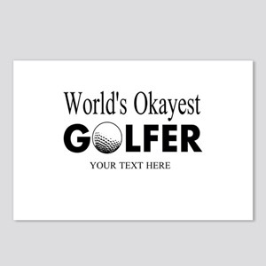 Worlds Okayest Golfer | Funny Golf Postcards (Pack