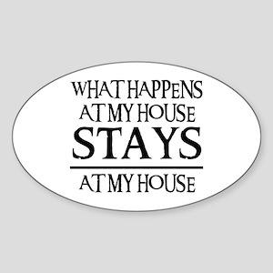 MY HOUSE Oval Sticker