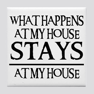 MY HOUSE Tile Coaster