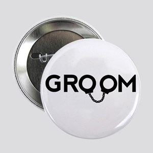 "Groom handcuffs 2.25"" Button"
