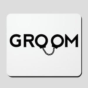 Groom handcuffs Mousepad