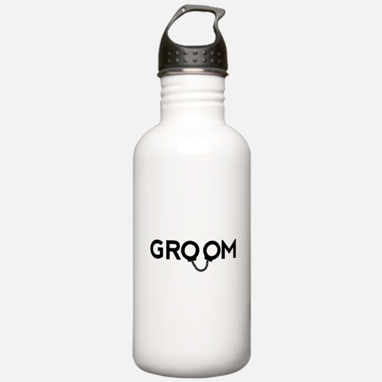Groom handcuffs Water Bottle