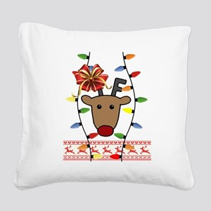Ugly XMas Square Canvas Pillow