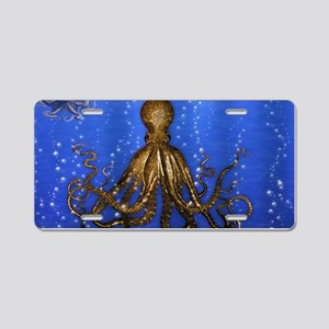 Octopus' Lair - colorful Aluminum License Plate