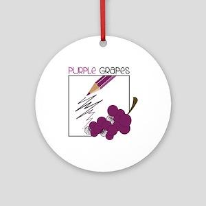 Purple Grapes Ornament (Round)