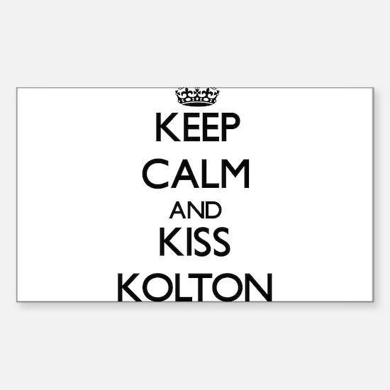 Keep Calm and Kiss Kolton Decal