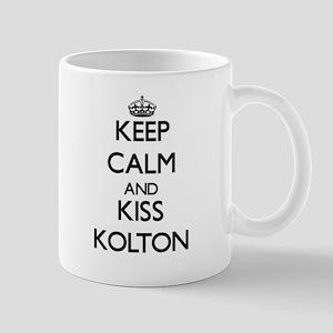 Keep Calm and Kiss Kolton Mugs