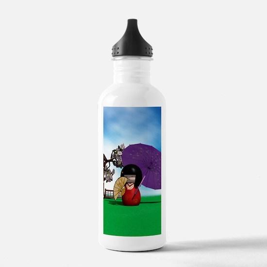 Kokeshi Doll Water Bottle