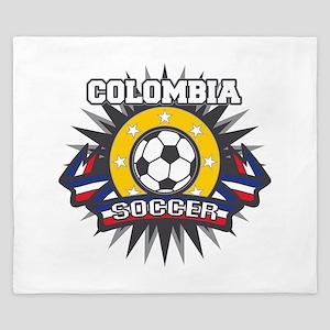 Colombia Soccer King Duvet