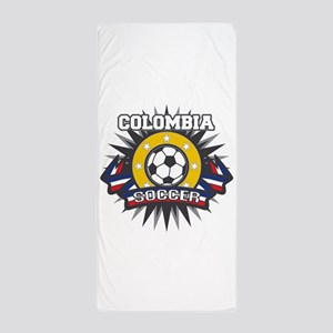 Colombia Soccer Beach Towel