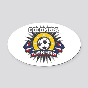 Colombia Soccer Oval Car Magnet