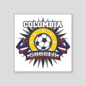 """Colombia Soccer Square Sticker 3"""" x 3"""""""
