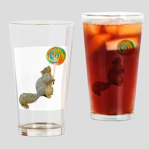 Fat Squirrel Lollipop Drinking Glass