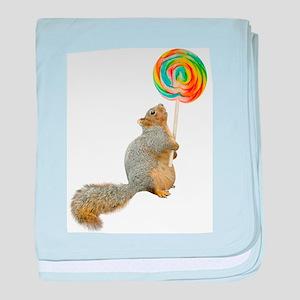 Fat Squirrel Lollipop baby blanket