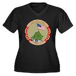 USS IWO JIMA Women's Plus Size V-Neck Dark T-Shirt