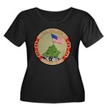 USS IWO Women's Plus Size Scoop Neck Dark T-Shirt