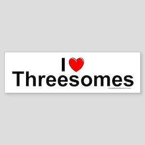 Threesomes Sticker (Bumper)