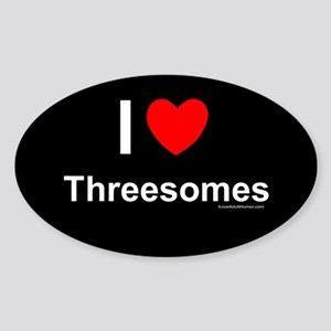 Threesomes Sticker (Oval)