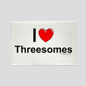 Threesomes Rectangle Magnet