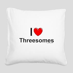 Threesomes Square Canvas Pillow