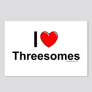 Threesomes Postcards (Package of 8)