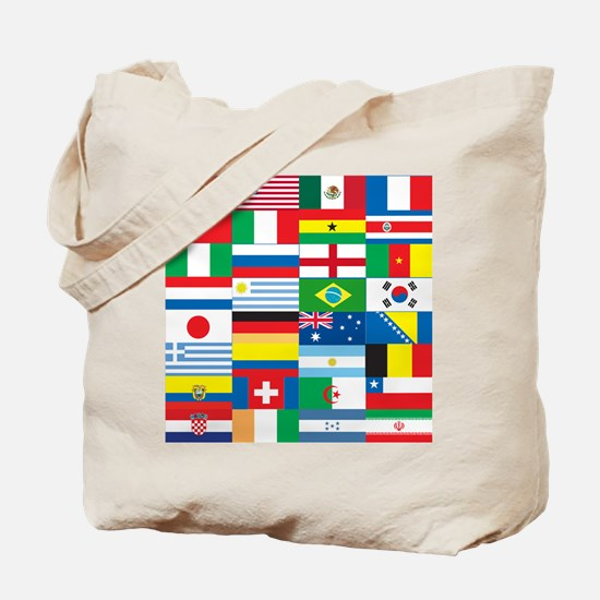 Flags of 32 Countries Tote Bag