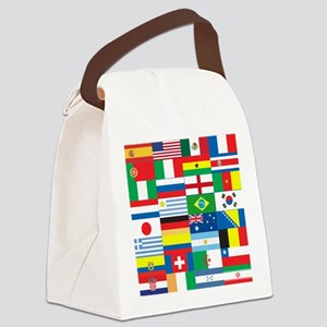 Flags of 32 Countries Canvas Lunch Bag