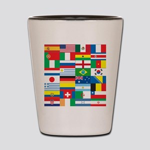 Flags of 32 Countries Shot Glass
