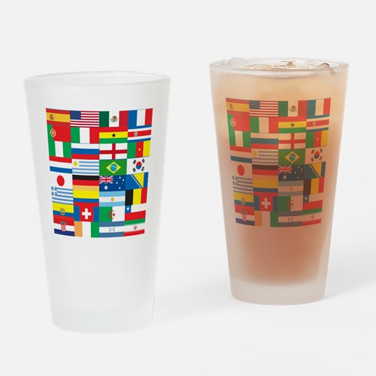 Flags of 32 Countries Drinking Glass