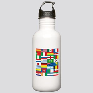 Flags of 32 Countries Stainless Water Bottle 1.0L