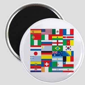 Flags of 32 Countries Magnet