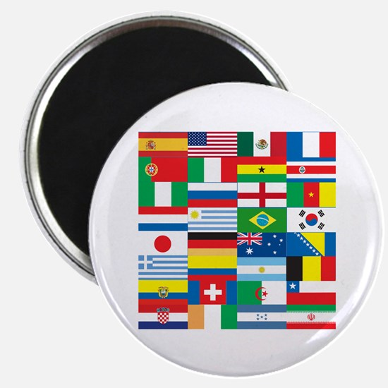 "Flags of 32 Countries 2.25"" Magnet (10 pack)"
