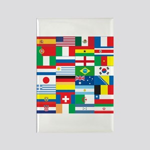 Flags of 32 Countries Rectangle Magnet