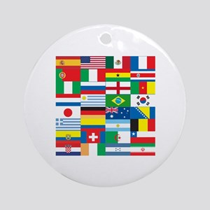 Flags of 32 Countries Ornament (Round)