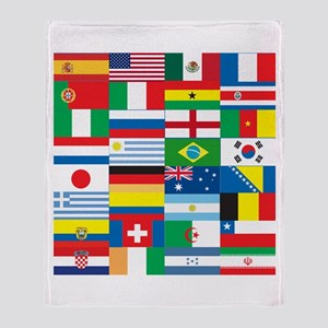 Flags of 32 Countries Throw Blanket