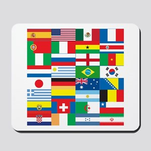 Flags of 32 Countries Mousepad